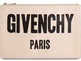 Givenchy Logo Print Calfskin Leather Pouch