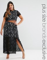 Truly You Co-Ord Lace Maxi Skirt With Thigh Split