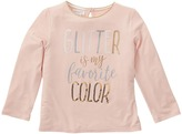 Mud Pie Glitter Long Sleeve Shirt Girl's Clothing