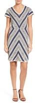 Nic+Zoe Petite Women's Spanish Stripe Sweater Dress