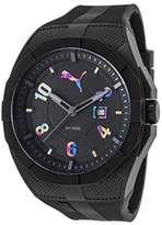 Puma Quartz Plastic and Polyurethane Casual Watch, Color:Black (Model: PU103501012)