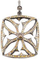 Loree Rodkin giant Maltese cross diamond pendant