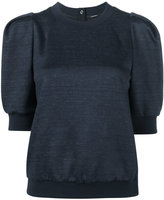 ADAM by Adam Lippes short puff sleeve sweatshirt - women - Cotton/Linen/Flax/Nylon/Wool - XS