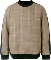 Wooyoungmi plaid crew neck jumper