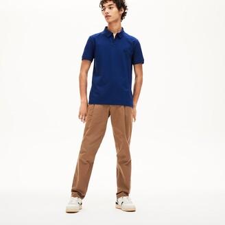 Lacoste Men's Tunisian Collar Linen And Cotton Regular Fit Polo Shirt