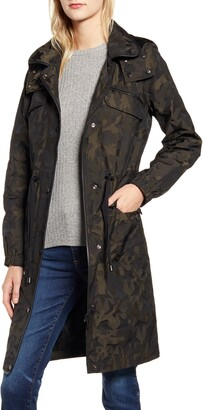 AVEC LES FILLES Star Jacquard Raincoat with Removable Hood