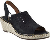 Clarks Artisan Leather Espadrille Wedge Sandals -