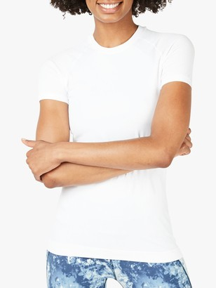 Sweaty Betty Athlete Seamless Gym T-Shirt, White