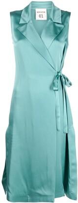 Semi-Couture Sleeveless Wrap Blazer