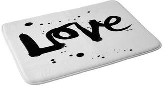 "Deny Designs Kal Barteski Love 1 Memory Foam Bath Mat, 24""x36"""