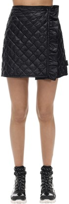 Moncler Padded Nylon Mini Skirt W/ Ruffle Detail