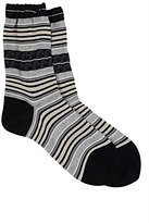 "Antipast Women's ""Beachside"" Waves Trouser Socks-BLACK"
