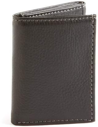 Black Brown 1826 Slim Trifold Wallet