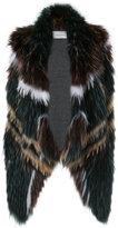 Yves Salomon shawl lapel waistcoat - women - Spandex/Elastane/Viscose/Marmot Fur - 40