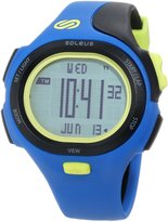 Soleus Men's SR008452 P.R. Grey Digital Dial with Blue and Black Polyurethane Strap Watch