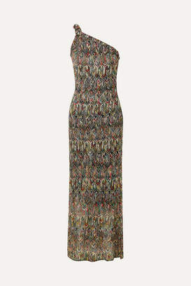 Missoni One-shoulder Crochet-knit Maxi Dress - Black