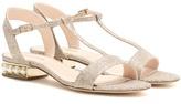 Nicholas Kirkwood Casati Embellished Glitter Sandals