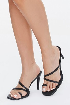 Forever 21 Caged Toe-Loop Heels