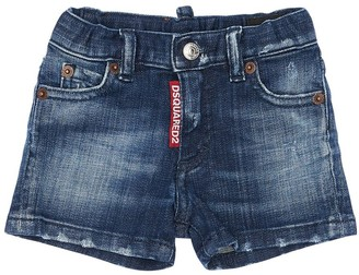 DSQUARED2 Stretch Cotton Denim Shorts