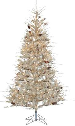Pottery Barn 7ft Pre-Lit Frosted Sage Slim Artificial Christmas Tree