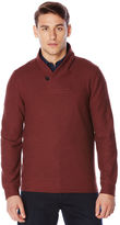 Perry Ellis Textured Shawl Pullover Sweater
