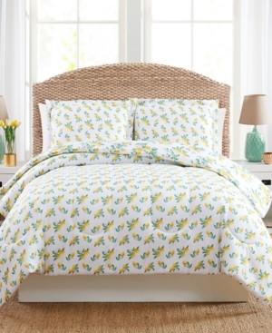 Pem America Lemon Floral King 3PC Comforter Set Bedding