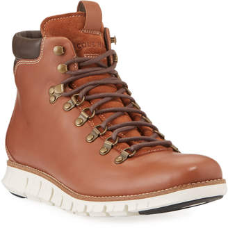 Cole Haan Men's Zerogrand Mixed Leather Hiker Boots