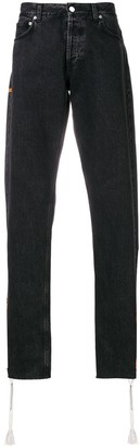 Heron Preston Straight Leg Side Zip Jeans
