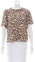Velvet Cheetah Print Short Sleeve Top