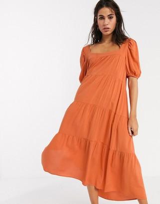 Emory Park midi smock dress in orange