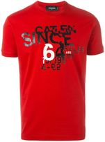 DSQUARED2 logo numbers print T-shirt