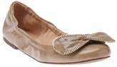 See by Chloe Zipper bow leather flat