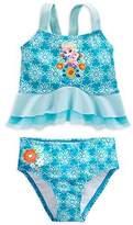 Disney Store Little Girls' Frozen Elsa Deluxe Swimsuit, Size 5/6