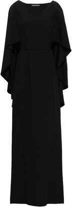 Alberta Ferretti Cape-effect Draped Satin-crepe Gown