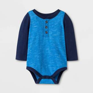 Cat & Jack Baby Boys' Faux Creek Long Sleeve Jersey Bodysuit - Cat & JackTM