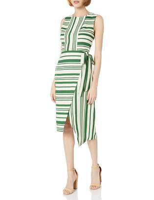 J.o.a. Women's Wrap Style Stripe Sheath Dress