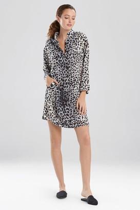 Natori Cheetah Mandarin Sleepshirt