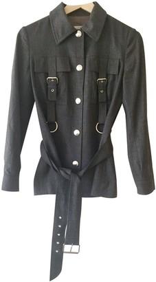 Celine Anthracite Wool Jackets