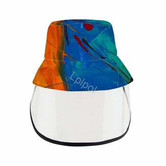 Lplpol Unisex Sun Hat for Adult and Teens Fishing Hat Face Shield Hat Photo-of-Abstract-Painting (3) Canvas Bucket Hat for Anti-UV Summer Foldable Beach Sea Vacation Avoid Spitting