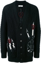 Valentino embroidered cardigan - men - Acrylic/Polyamide/Mohair/Virgin Wool - XS