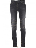 Balmain skinny stitched knee jeans