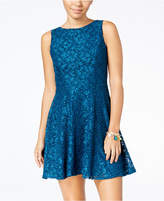 Speechless Juniors' Glittered Lace Dress, Created for Macy's