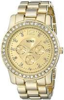 XOXO Women's XO5503 Gold-Tone Rhinestones Bezel Bracelet Watch