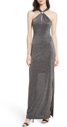 Ted Baker Metallic Knit Maxi Dress