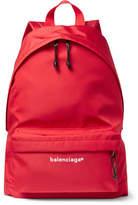 Balenciaga Explorer Ripstop Backpack - Red