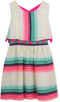 Rare Editions Stripe Popover Dress, Big Girls (7-16)
