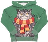 Madson Discount Owl Print Cotton Blend Hooded Sweatshirt