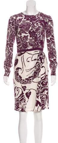 Gucci Floral Print Knee-Length Dress