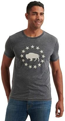 Lucky Brand Buffalo T-Shirt (Jet Black) Men's Clothing