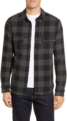 Faherty Legend Long Sleeve Plaid Button-Up Sweater Shirt